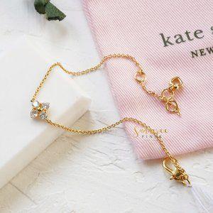 Kate Spade Myosotis Flower Bracelet Gold Clear